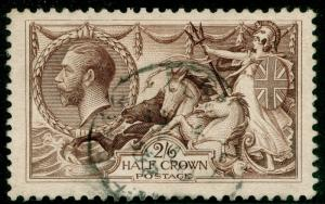 SG414, 2s 6d chocolate-brown, USED. Cat £70.