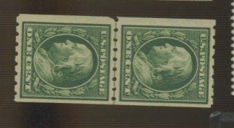390 MINT Line Pair VF OG Very LH Cat$35