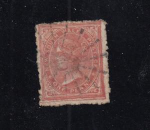 NEW SOUTH WALES # 61d 1p LIGHT STAR BURST CANCEL CAT VALUE $150