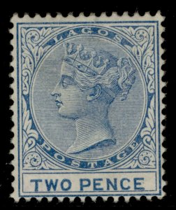 NIGERIA - Lagos SG18, 2d blue, M MINT. Cat £200.