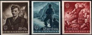 Stamp Croatia Sc B060-2 1944 WWII 3rd Reich NDH Independence Anniversary MNH