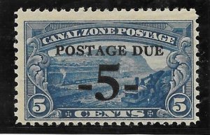 Canal Zone Scott #J23 Mint NH 5c  Surcharged on 5c Postage Due  2016 CV $13.00