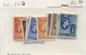 VIRGIN ISLANDS #76-86, Used, Scott $31.90