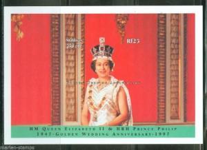 MALDIVES QUEEN ELIZABETH & PHILIP GOLDEN ANN  II S/S  SCOTT#2243  MINT NH