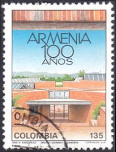 Colombia # 1011 used ~ 135p Building in the City of Armenia