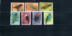 Surinam C58;C61;C63;C65-C67;C69 Birds used (S0033)