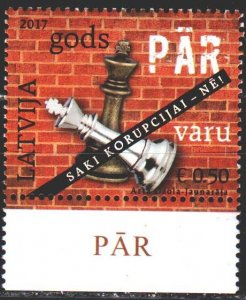Latvia. 2017. 1026. Chess. MNH.