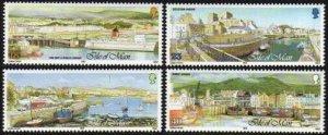 Isle of Man 519-522,MNH.Michel 517-520. GENOVA-1992.Manx Harbors.Ships.