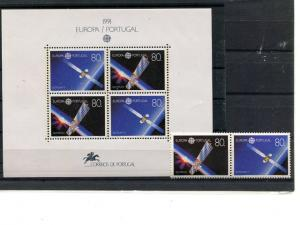 Portugal 1991  Europa mini sheet   Mint VF NH