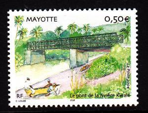 Mayotte MNH Scott #207 50c Kwale River Bridge