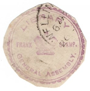 (I.B) New Zealand Postal : Government Frank (Library General Assembly)
