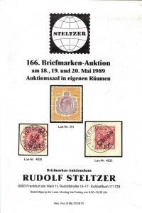 Steltzer: Sale # 166  -  166. Briefmarken-Auktion, Steltz...