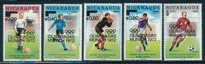 Nicaragua - Munich Olympic Games MNH Ovpt Set (1972)