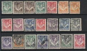 Northern Rhodesia, Sc 25-45 (SG 25-45), used