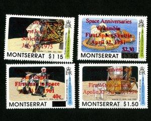 Montserrat Stamps # 647-50 XF OG NH