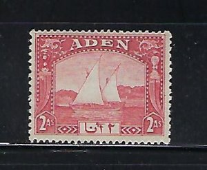 ADEN SCOTT #4 1937 DHOWS 4A  (RED) MINT LIGHT HINGED