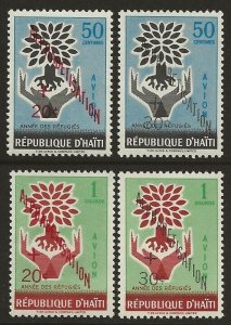 Haiti 1960 WRY Alphabetisation Set #CB24-CB27 VF-NH
