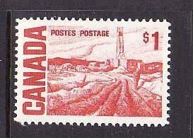 Canada-Sc#465B- id8-Unused NH $1.00 Oilwell-1967-
