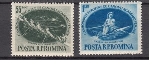 J27561 1955 romania set mh #1054-5 sports