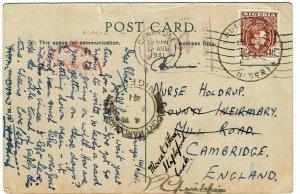 Nigeria 1941 Bo cancel on postcard (TENNIS) to England, censored