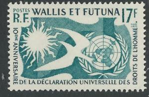 Wallis & Futuna # 153   UN Human Rights Declaration (1) Mint NH