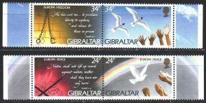 Gibraltar. 1995. 710-13. Peace, dove, europe-sept. MNH.
