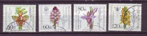 J18057 JLstamps 1984 germany set used #b623-6 flowers