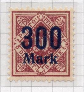 Wurttemberg 1922-23 Dec-Aug Issue Fine Mint Hinged 300M. Surcharged 291130