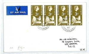 SOUTH GEORGIA GB London Airmail Cover 1968 {samwells-covers} CW254