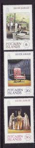 Pitcairn Is-Sc#160-2-unused NH set-QEII-25th Reign-1977-