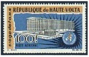 Burkina Faso C30,MNH.Michel 188. New WHO Headquarters,1966.