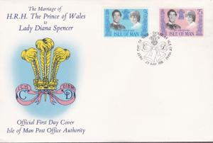 Tonga 1982 Royal Wedding Princess Diana S.G. 202-203  First Day Cover VF