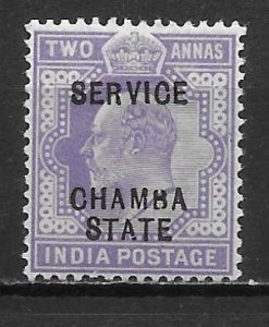 India Chamba o18 2a Edward VII single Unused Hinged