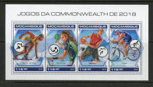 MOZAMBIQUE 2018 COMMONWEALTH GAMES SHEET MINT NH