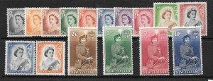 NEW ZEALAND SG723/36 1953 DEFINITIVE SET MNH