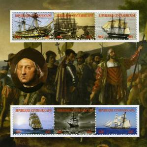 Central African Republic 2012 CHRISTOPHER COLUMBUS Sheet Perforated Mint (NH)