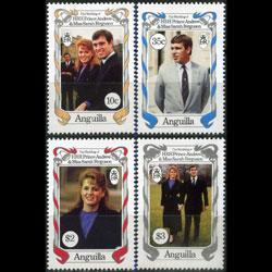 ANGUILLA 1986 - Scott# 683-6 Royal Wedding Set of 4 NH