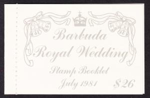 Barbuda Charles and Diana Royal Wedding Booklet SG#SB3