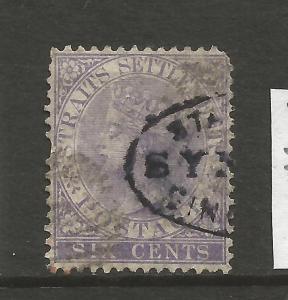 STRAITS SETTLEMENTS 1867-72  6c   QV  FU SG 13