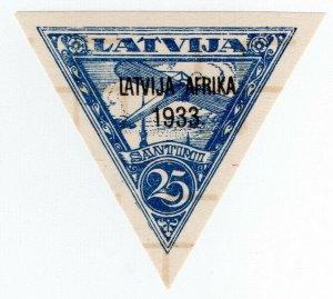 (I.B) Latvia Postal : Africa Overprint 25s