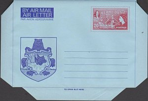 BERMUDA 20c Arms / Ship aerogramme unused..................................J736a