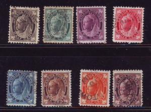 Canada Sc 66-73 1897 Victoria Maple Leaf stamp set used