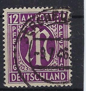 Germany AM Post Scott # 3N8b, used