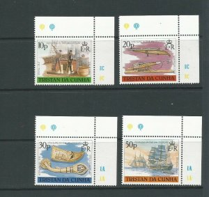 Tristan da Cunha 1988 19th Centenary Whaling Unmounted Mint Set SG 452/5