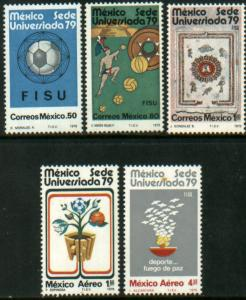 MEXICO 1178-1181, C606-C608 INCL. 2 SS. University Games. MINT, NH. F-VF.