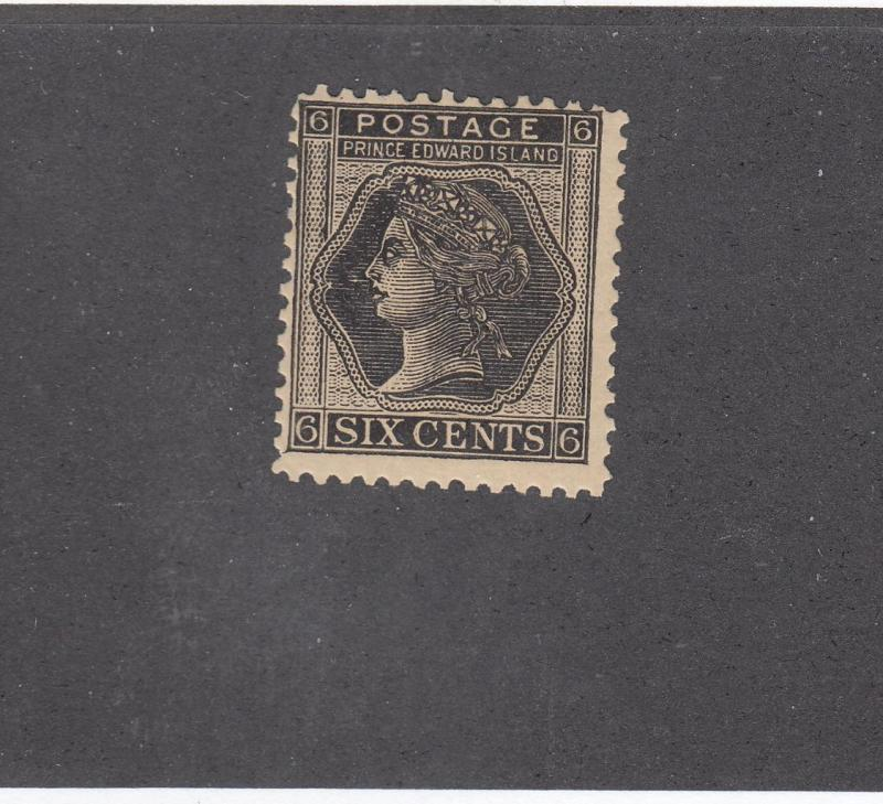 PRINCE EDWARD ISLAND REF# KM46 # 15 6cts QUEEN VICTORIA BLACK CAT VALUE $18