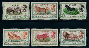 Ethiopia 369-374 Mint NH animals