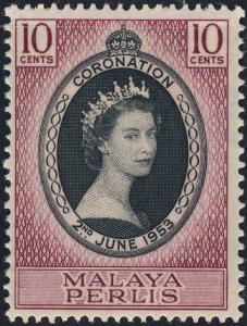 MALAYA / PERLIS - 1953 - QEII CORONATION SG 28 / Scott 28 - U/M**