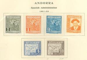 Andorra Spanish 37-49 Mint VF NG