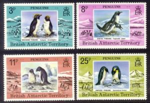 British Antarctic Territory Sc#  72-5 MNH Penguins